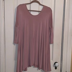 Pink Charlotte Russe 3/4 Sleeve Dress